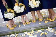 Navy Dresses and Yellow Shoes - I like it @Rowena Aldridge Hamlet