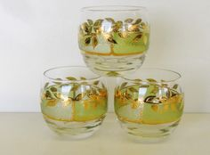 Vintage Culver Roly Poly Glasses, Vintage Barware, Mad Men Decor by TheGildedTassel on Etsy https://www.etsy.com/listing/155822260/vintage-culver-roly-poly-glasses-vintage