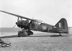 Westland Lysander Mark II, R1999 'LX-P', of No. 225 Squadron RAF, undergoing maintenance at Tilshead, Wiltshire.1940