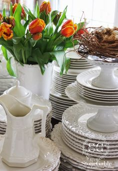 StoneGable: Use white dishes for everything!