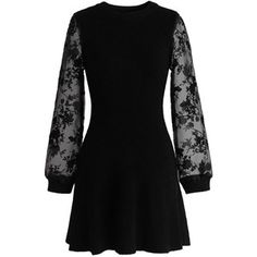 Chicwish Fab Focus Knitted Dress in Black