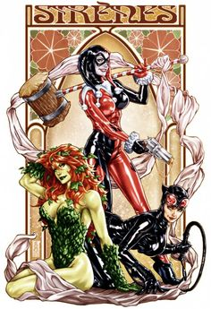 Harley Quinn, Poison Ivy and Catwoman