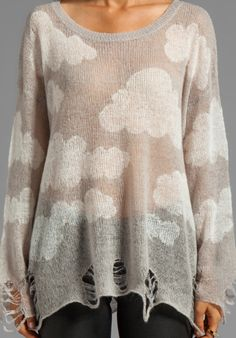 8.7.13 WILDFOX COUTURE Cloudy Sky Lennon Sweater in Silver Polish - Sweaters & Knits LOVE THIS!!!!!