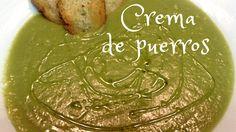 CREMA DE PUERROS CON PICATOSTES | Recetas de cocina