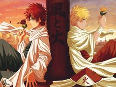 Naruto and Gaara on Pinterest | Naruto, Naruto Gaara and Garra
