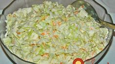 KFC Coleslaw is a five minute side dish you'll enjoy all summer long with your favorite chicken and more! Tastes exactly like the original! KFC Coleslaw is one of my most personal childhood food memories. Kfc Coleslaw, Good Food, Yummy Food, Side Recipes, Simply Recipes, Easy Recipes, Copycat Recipes, Restaurant Recipes, Soup And Salad