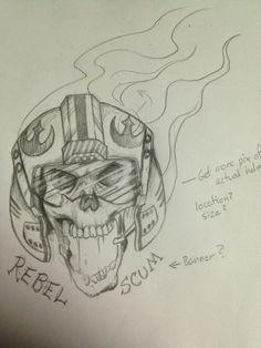 4d62a347a Rebel Scum Tattoo Sketch by BozInk Rebel Scum, Tattoo Sketches, Spin,  Original Artwork