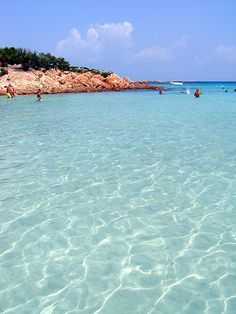 Turquoise Waters make us sooo happy ... Spiaggia del principe (prince's beach), Portu Li Coggi, Sardinia in beauitful Italy ... now sigh ... ahhhhh xx