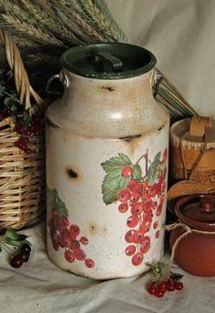 """Rustic milk pot, jug """"redcurrant"""""""