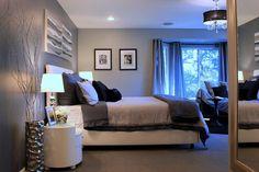 Walnut contemporary bedroom