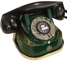 Original metal bodied telephone made in Antwerp by Bell