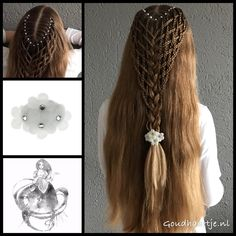 Woven hairstyle with a gorgeous flower hairclip from the webshop www.goudhaartje.nl (worldwide shipping).   Hairstyle inspired by: @trenzasnmba (instagram)  #hair #haar #vlecht #vlechten #hairclip #hairstyle #braid #braids #hairstylesforgirls #plait #trenza #peinando #beautifulhair #gorgeoushair #stunninghair #hairaccessories #hairinspo #braidideas #amazinghair #halfupdo #longhair #longhairdontcare #blonde #blondehair #goudhaartje