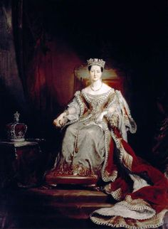 Queen Victoria (1819–1901), Enthroned in the House of Lords  by George Hayter       Date painted: 1838