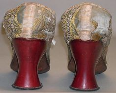 Shoes, British, 1700-1710. Those Red heels!!!