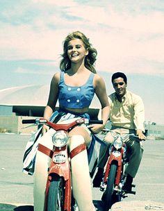Ann-Margret and Elvis Presley in Hollywood movie Viva Las Vegas 1964 Honda Cub, Vintage Hollywood, Classic Hollywood, Hollywood Glamour, Hollywood Stars, Glamour Movie, Hollywood Couples, Ann Margret Photos, Soichiro Honda