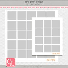 freebie insta faves template, crystal livesay