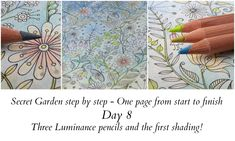 Secret Garden step by step - Day 8 - Luminance pencils and shading