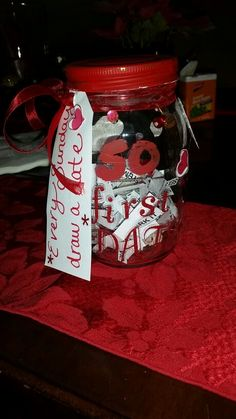 Date jar i made for my hubby