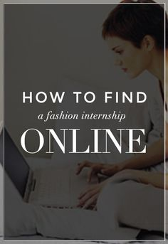 Find a Fashion Internship Online