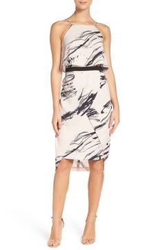 Go bold with this asymmetrical graphic print dress