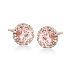 Bought these beautiful earrings to match my MK watch, can't wait for them to come in! Such a pretty peach colored stone, rose gold, and diamonds, doesn't get better than that!
