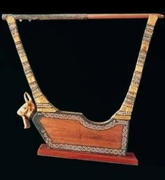 Lyres from The Royal Tombs of Ur Golden  lyre Sumerian  3000 BC