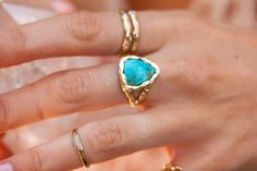 Custom Rings | Bisbee Triangle Turquoise Ring – Logan Hollowell Jewelry