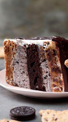 Brownie Cookie Cake - #Brownie #CAKE #Cookie