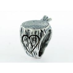 A Tree Stump Ring Customized with Your Initials :D this is so cute!!!!