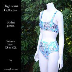 Sew the High waist Collective bikini pattern