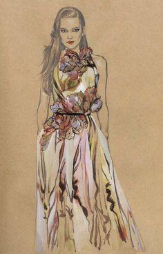 Editorial fashion illustration.