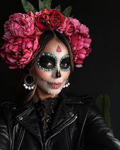 "JULIE SARIÑANA on Instagram: ""Happy Dia de Los Muertos!  | flower crown and makeup by my lovely sister @lilylove213 #diadelosmuertos"""