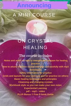 Announcing an online mini crystal healing course run by Gwyneth Robbins Cox AKA 'The Crystal Guru'