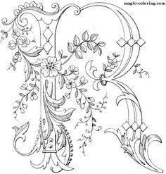 MAGIC-COLORING | Flowered Monograms (3)
