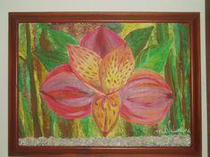 Astromelia- óleo sobre lienzo
