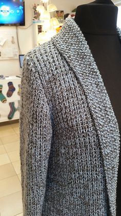Jacket made of Merino with scarf collar without buttons