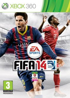 FIFA 14 cover for Austria. Featuring FC Bayern player, star, David Alaba and Lionel Messi