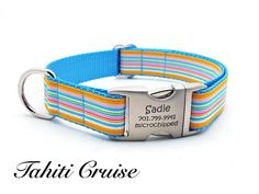 New to Bark Label #Itsadogthing http://www.barklabel.com/products/tahiti-cruise-dog-collar-with-laser-engraved-personalized-buckle?utm_campaign=social_autopilot&utm_source=pin&utm_medium=pin www.barklabel.com