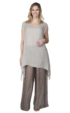 3775301eaa FINAL SALE La Fixsun Gauze Mesh Linen Long Tunic Tank XL ONLY