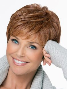 Brown Great Monofilament Straight Short Wigs, Short Remy Wigs Hair Styles For Women Over 50, Hairstyles Haircuts, Haircuts With Bangs, Side Bangs Hairstyles, Cute Hairstyles For Short Hair, Short Haircuts, Curly Hair Styles, Layered Hairstyles, Hairdos