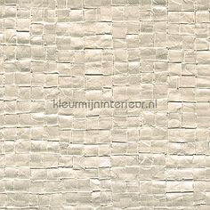 Glass mosaic ivoor Modern - Abstract behang