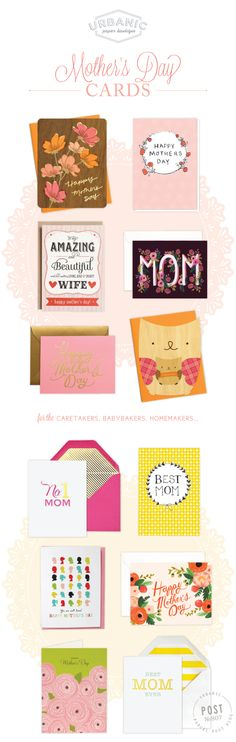 Mother's Day Cards - cute ideas