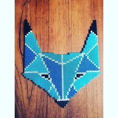 Fox hama beads by Cille