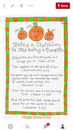 so cute for a christian pre k being a christian is like being a pumpkin free printable