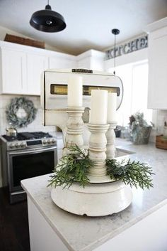 Simple winter kitchen - A great source for winter decor inspiration! by rosalind
