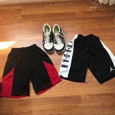 4058b293622 Nike Shoes | Jordan Shorts And Nike Free Runs | Color: Red/White | Size: 7.5