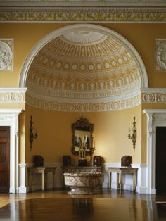 Kedleston Hall, Derbyshire, England, State Dining Room, Semi-Domed Apsial End, Displaying Caddies Photographic Print by Richard Bryant at AllPosters.com