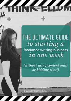 Ready to get started freelance writing? Looking for some freelance writing tips to make your biz more profitable? This 2,300+ word, in-depth post will tell you everything you need to know to start a freelance writing business in one week! Check it out! :)