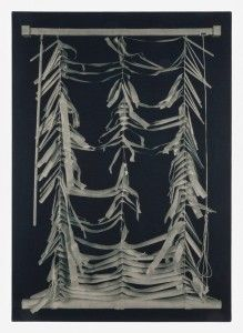John Opera - Blinds IV (chemically altered cyanotype on stretched linen)