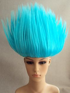 Troll Doll Costume Wig Alternative Image #trolls#cosplay#blue